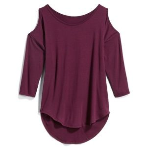 Papermoon Tops - Papermoon Aubrey Cold Shoulder Knit Top